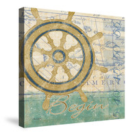 Mariner Sentiment II Canvas Wall Art