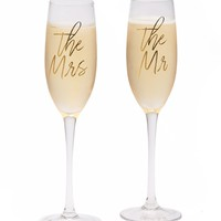 'The Mr. & The Mrs.' Champagne Flute Set