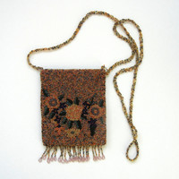 Vintage 1950s Beaded Fringed Purse