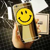 Cute Gold Smiling Face iPhone 5se 5s 6 6s Plus Case Cover