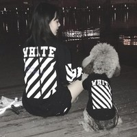OFF-White Dog Pet Puppy Clothing Coat Shirt Top Tee