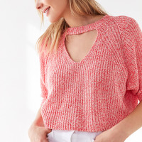 Silence + Noise Maddie Cutout Cropped Sweater   Urban Outfitters