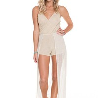 Luli Fama Wandress Romper - Golden Sugar