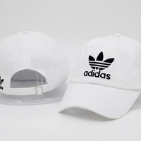 White Adidas Logo Cotton Baseball Golf Sports Cap Hats