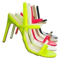 Timeless34 Thin Elastic Strap High Heel Sandal - Women Open Toe Stretchy Shoes