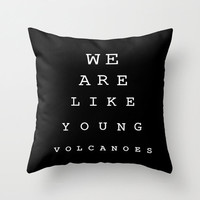"Pillow cover personalized with ""We are like Young Volcanoes"" design Fall Out Boy lyrics"