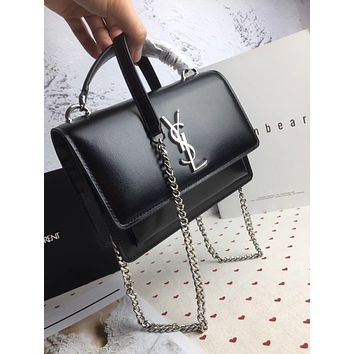 ysl women leather shoulder bags satchel tote bag handbag shopping leather tote crossbody 172