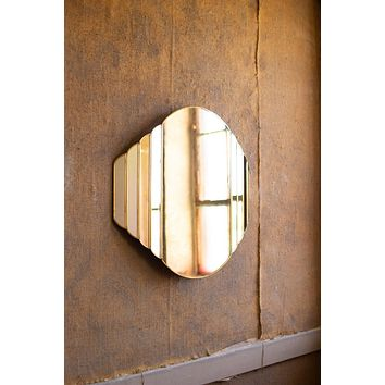 Brass Framed Watch Design Mirror
