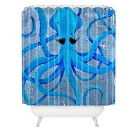 Mandy Hazell You Make Me Squidish Shower Curtain
