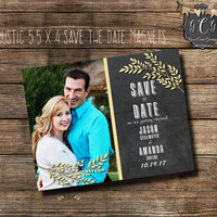 Rustic Save the Date magnets,Rustic Save the Date personalized,Rustic Save the Dates magnets,Photo Save The date Magnets,Rustic wedding
