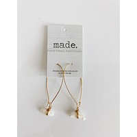 Made. Hand mined quartz earring