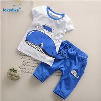 Kids Boys Clothes Summer  New Toddler Boys Clothing Set Baby Boy Clothes Summer Children Clothing sets Cartoon T509