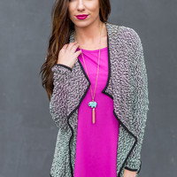 In the Night Cardigan in Black/Ivory