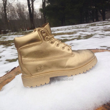 Gold Timberland Boots (Mens Sizes)