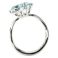 OUI RING Ring in 18K white gold and aquamarine