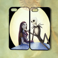 Sally and Jack Couple Cases -iPhone 5, 5s, 5c, 4, 4s, ipod 5, Samsung GS3 case- silicone or Hard Plastic Case, Phone cover
