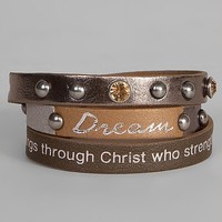 Good Work(S) Dream Mineral Wrap Bracelet