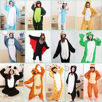 Animal Mens Ladies Fleece Suits Onsie Costume Pajamas Hoodies Adult Fancy Dress