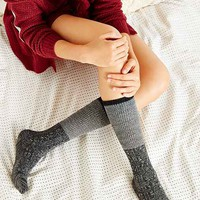 Colorblock Two-for Knee High Sock