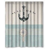 Personalized Cartoon Funny Anchor Shower Curtain 60'(w)x72'(h)