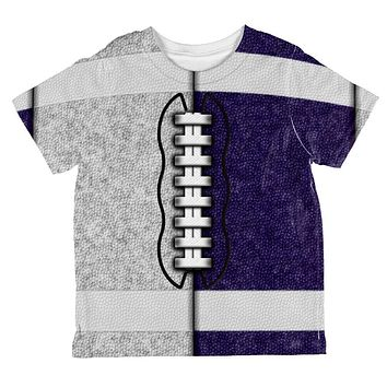 Fantasy Football Team Grey and Navy All Over Toddler T Shirt