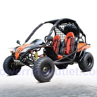 PRO Ranger 200cc Go Kart (Automatic transmission w/reverse, Large size fit kid and adult, Twin Adjustable Racing Seats with 4 Point Harness, Hi-power 200cc engine, Full size Spare Tire and Wheel)