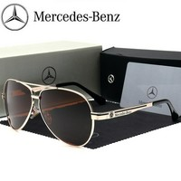 2018 Luxury Brand Sunglasses Polarized Men Driving Glasses Mercedes-Benz