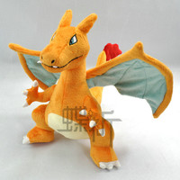 30CM Firedragon Pokemon go Plush Fire Element Charmander Evolution Plush Doll Toys Classic Japanese Anime Children