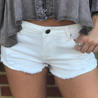 Roadtrip Ready Denim Shorts - White