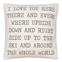Levtex 'Love You Here' Accent Pillow