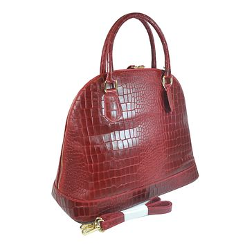 Misty U.S.A. 100% Genuine Cowhide Leather Handbags Made In Italy [YG8085-RD]