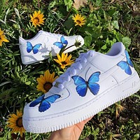 "Nike Air Force 1 ""Butterfly"" casual low top shoe"