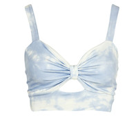 Polly Knot Front Tie Dye Bralet