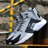 Nike Huarache X Acronym City MID Leather Black White Gray - Best Deal Online