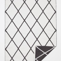 Jacquard-weave Cotton Rug - White/Black patterned - Home All | H&M US