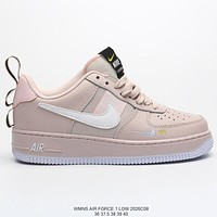 Nike Air Force 1 AF1 Women's Pink Low Top Flat Sneakers Shoes