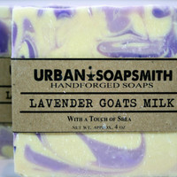 Lavender Goats Milk Soap - Cold Process Soap, Goats Milk, Lavender, All Natural Soap, Handmade Soap- Great Fathers Day gift!