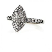 Champagne Pave Diamond Marquis Ring - Everyday Diamonds - Jewelry