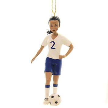 Holiday Ornaments GIRL SPORT ORNAMENT Polyresin Athlete Ball 164702 Soccer