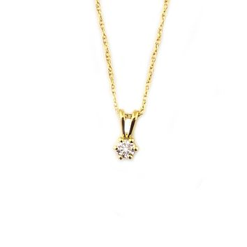 14kt Gold Diamond Diaz Pendant