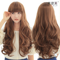 Wig Hair Hairpiece Long Curly Big Wave 4 Colors Cosplay Wig Hair Extensions = 1932113860