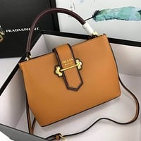 prada women leather shoulder bags satchel tote bag handbag shopping leather tote crossbody 223