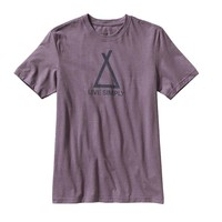 Patagonia Men's Tent Life Cotton/Poly T-Shirt | Tyrian Purple