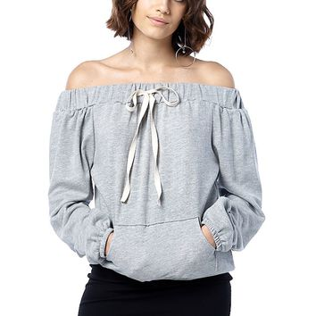 Off-the-Shoulder Active Pullover Top