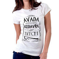 Harry Potter Spell Avada Kedavra Wizard Women Tshirts