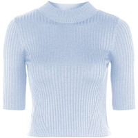 Ribbed Funnel Neck Top - Topshop
