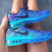 """""""NIKE"""" Trending Fashion Casual Sports Shoes Gradient Blue"""