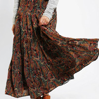 Urban Outfitters - Costa Blanca Tiered Paisley Maxi Skirt