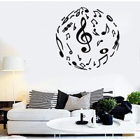 Wall Stickers Vinyl Decal Sheet Music Musician Sound Room Decor Unique Gift (ig1795)