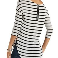Printed High-Low Tunic Top by Charlotte Russe
